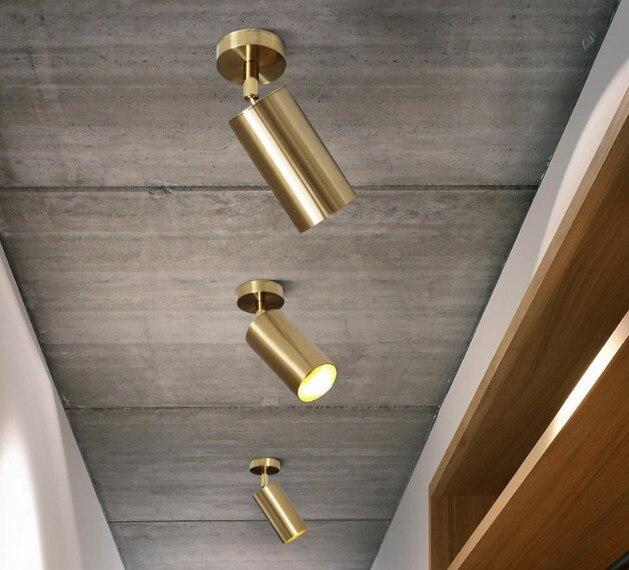Gold Iron Retro Aluminum Small Ceiling Light Living Room KTV Bar Bedroom Club Kitchen Corridor Aisle Modern Lamps Decoration