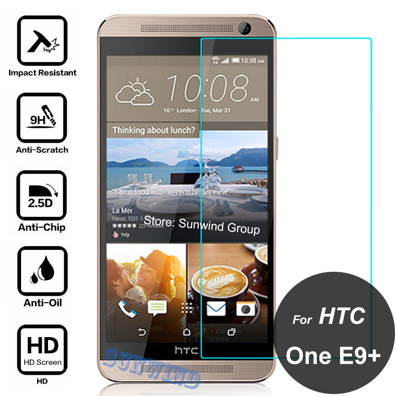 For HTC One E9+ E9S E9 Plus A55 Dual Sim Screen Protector 2.5D 9H Explosion-proof Tempered Glass Protective Film