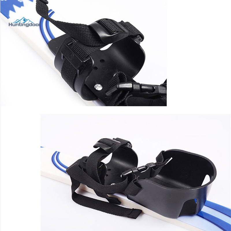 Outdoor junior skis w/snowboard pole bindings boots komperdell alpine skiing board for kid 5-10 years
