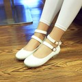 Women's  Spring Autumn Fashion Single Shoes Female Flat Casual Princess Shoes Round Toe Flat Heel Shoes Plus Size British Style