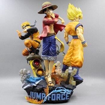 26cm One Piece Monkey D Luffy Dragon Ball Z Son Goku Naruto Uzumaki Naruto Battle Form Figurine Toys PVC Action Figure Model Toy