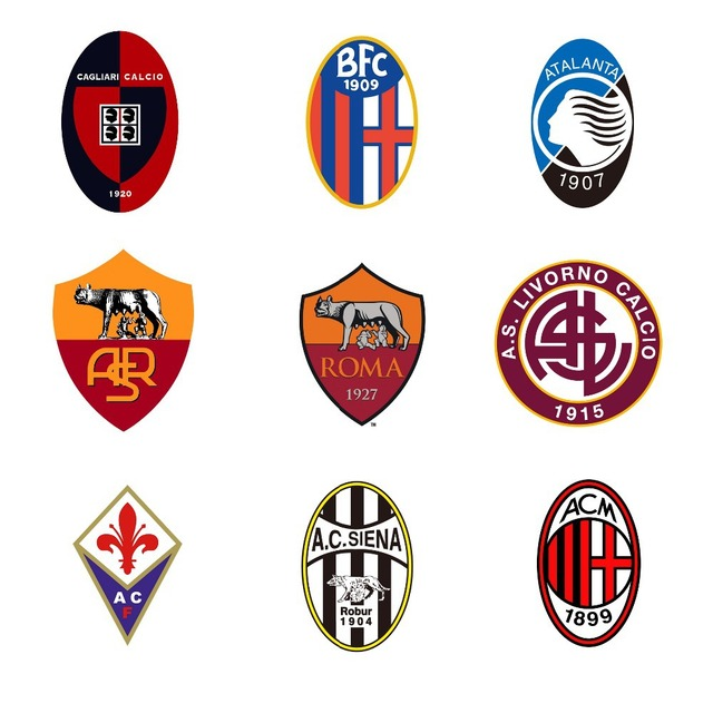 italian championship football team logos luminous electronic rh aliexpress com italian team logos Italian Soccer Ball