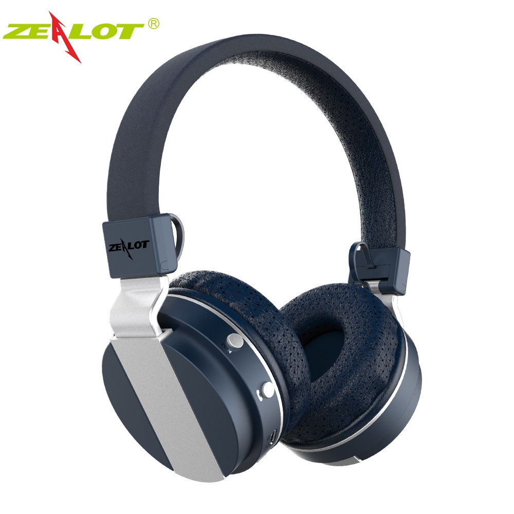 ZEALOT B17 Bluetooth Headphone Noise Cancelling Super Bass Wireless Stereo Headset With Mic Earphone, FM Radio,TF Card Slot solid color pocket sexy spaghetti strap maxi dress for women page 4 page 5