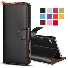 Leather Flip Case For Sony Xperia Z1 Z2 Z3 Z4 Z5 Compact Premium Z C6603 Cover Wallet Coque Etui Funda Hoesje Capa Para Capinhas(China)