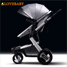 IIILOVEBABY Baby Stroller 2 in 1 Baby Carriage Lightweight Folding Carrying Belt Lying Seat Hot Mom Four Wheels Stroller Baby