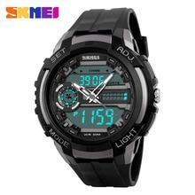 SKMEI 1202 Hommes Numérique Montre de Sport Dual Time Affichage Chronographe Alarme Horloge PU Bracelet Multiple Fuseau horaire Montres New