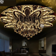 Plafonnier rond en cristal au design créatif, confortable, luminaire décoratif de plafond, idéal pour un salon, une chambre à coucher ou un restaurant, 90/LED V, 260V