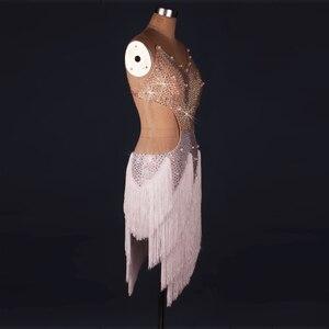 Image 2 - 레이디 성능 라틴 댄스 의류 수석 여성 돌 술 술 라틴 댄스 드레스 여자 라틴 댄스 쇼 라틴 댄스 드레스