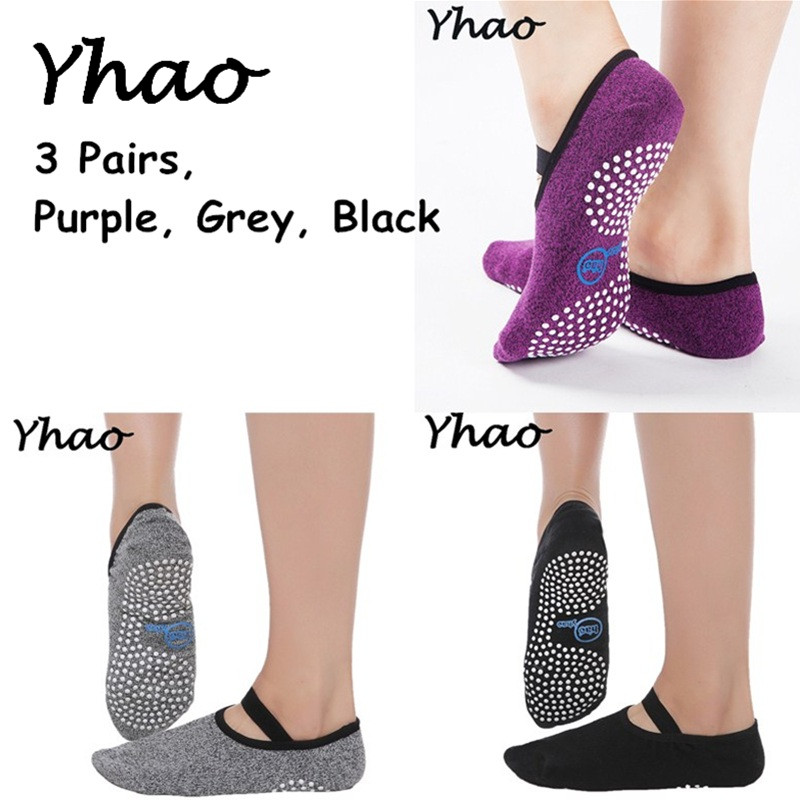 3 Pairs Seamless Toe Closure Yoga Socks Women&Men Anti-Slip Breathe Freely Comfortable Bandage Yoga Pilates Ballet Socks