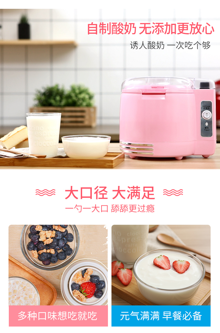 Machine Ice Cream Machine Fry Ice Cream Machine Children Self-control Small-sized Household Fully Automatic Natto Machine 3