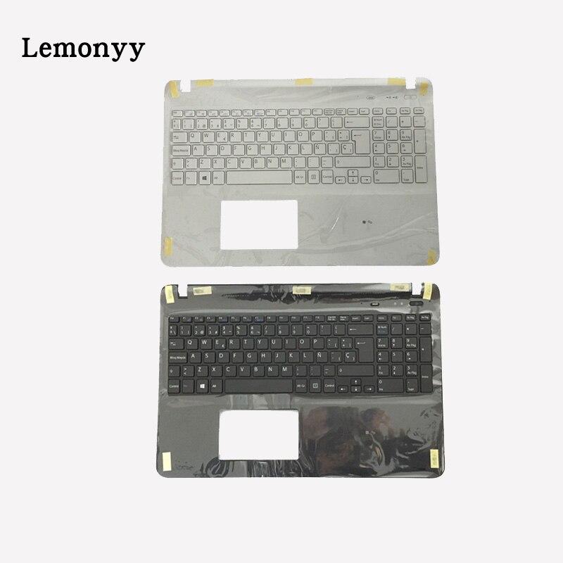 Clavier dordinateur portable espagnol pour sony Vaio SVF152C29V SVF153A1QT SVF15A100C SVF152100C clavier noir/blanc avec couvercle PalmrestClavier dordinateur portable espagnol pour sony Vaio SVF152C29V SVF153A1QT SVF15A100C SVF152100C clavier noir/blanc avec couvercle Palmrest