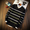 New Style Mens Pullover Round Neck Striped Long Sleeve S326 Christmas Sweater Men Pullover Men Male Sweater Pull Homme Marque