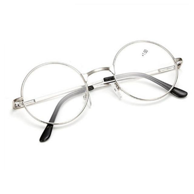 b0f7fe093 Retro Round Mirror Men Women Reading Glasses For Harry Potter Metal Frame  Glasses Male Female Mirror Personalized + 100...+400