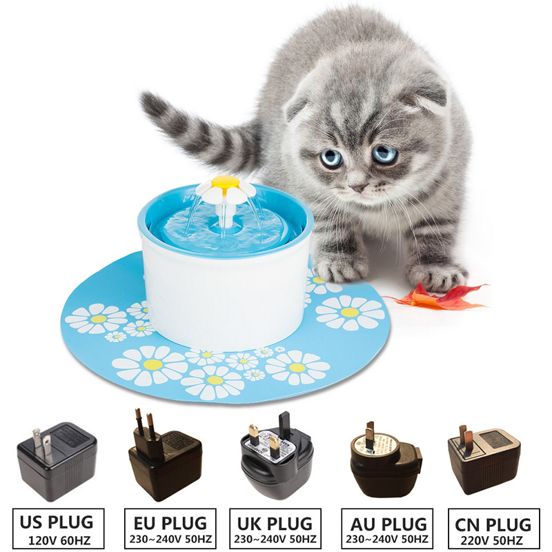 Automatic Electric Cat Drinking Fountain 110 220V