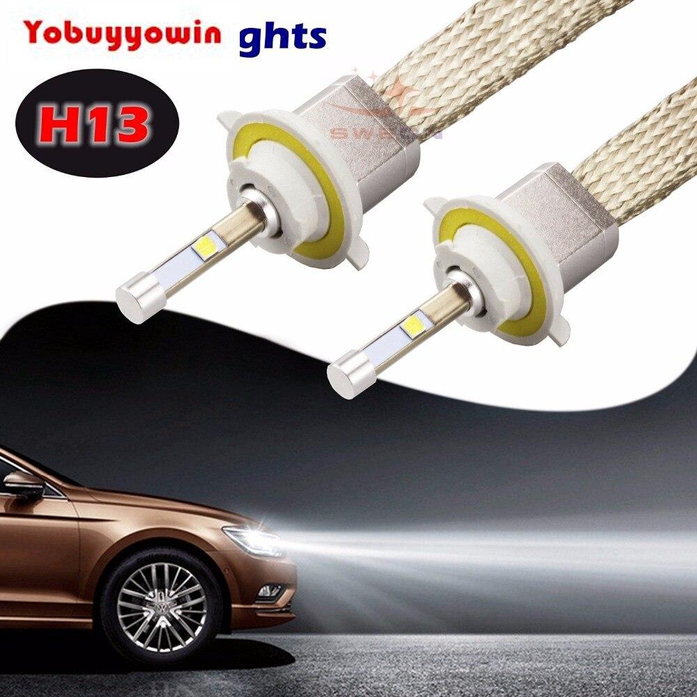 2Pcs 80W H13 9600LM Cree Chips Led Bulbs Car Headlight Conversion Kit Xenon White 6000K Lamp H1 H3 H4 H7 H11 9004 9005 9006 9012