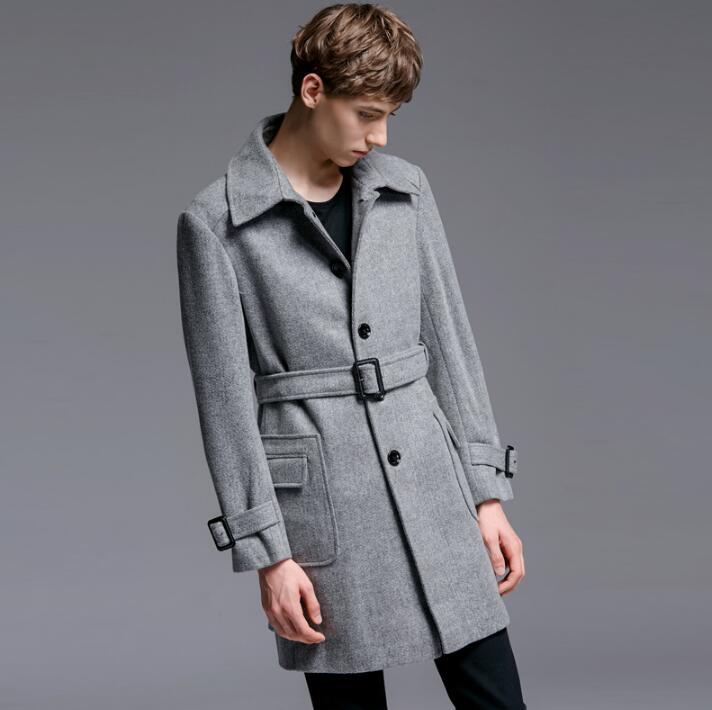 Серый черный повседневное шерстяное пальто мужские тренчи пальто с длинными рукавами мужское кашемировое пальто casaco masculino Англия осень зима
