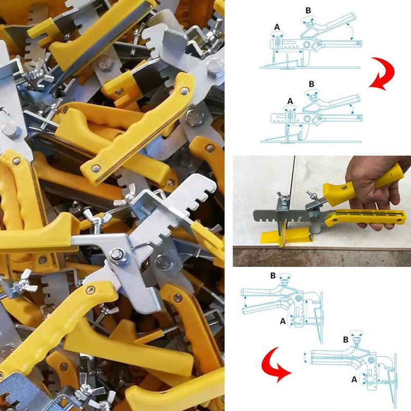 1 Set High Quality Tile Correction Leveler Tile Cross Equalizer Virgin Plastics Meterial Silver Color Hardware