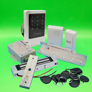 IP68 Waterproof Full 125khz Rfid Door Lock control system Kit 350lbs Electric Magnetic Lock +ZL Bracket Metal Access Control