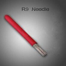 100pcs Microblading Needles Eyebrow Blade SHADING R9 Pin Permanent Makeup Manual