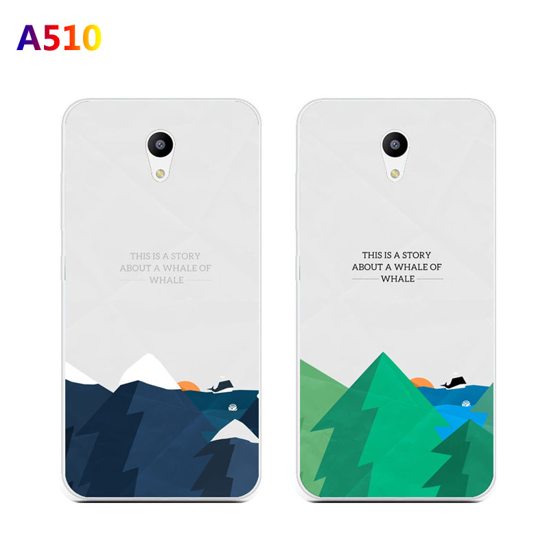 ZTE blade a510 Case Silicon landscape Painting Soft TPU Back Cover for ZTE blade a 510