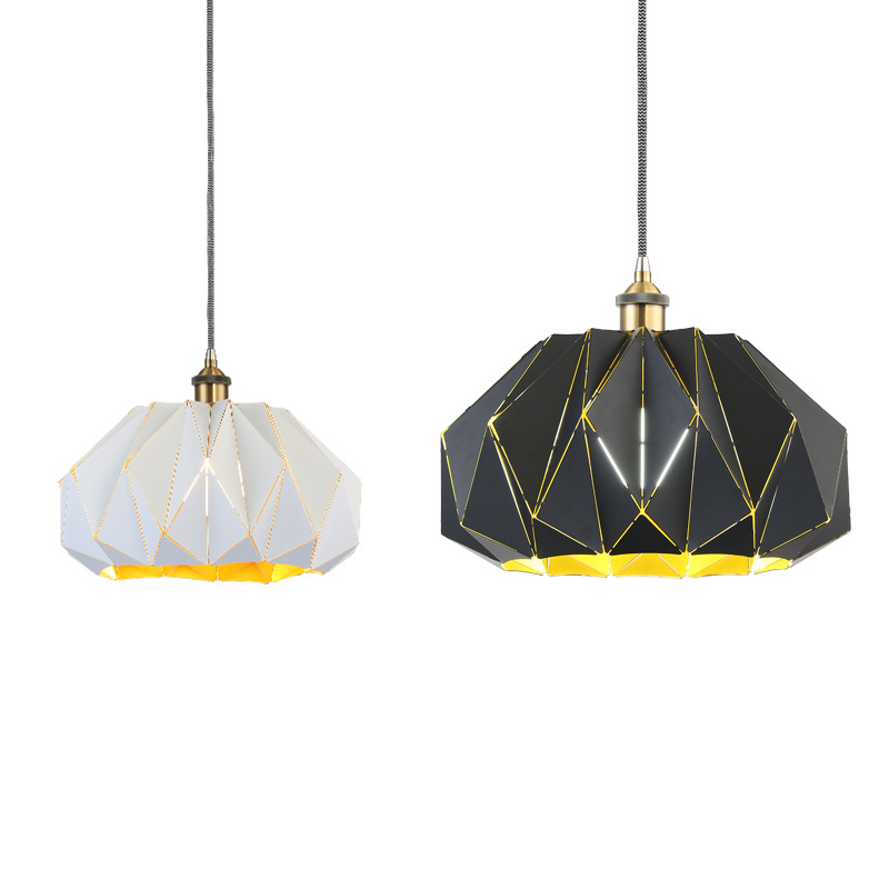 TUDA Free Shipping 40X40cm Nordic creative personality iron Art Pendant Lights bar counter modern minimalist Pendant Lights