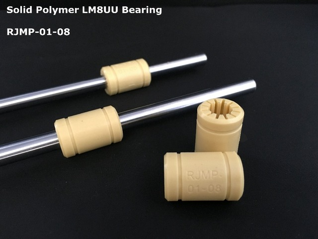 Solid Polymer Bearing  Igus Drylin RJMP-01-08 RJMP-01-06 RJMP-01-10 RJMP-01-12 3D Printer 6mm 8mm 10mm 12mm shaft -4pcs