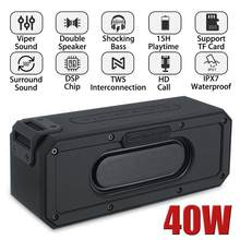 40W TWS Bluetooth Speaker Bass Wireless Portable sound box IP7X Waterproof boombox PC Column stereo Subwoofer Soundbar for xiomi(China)