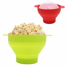Microwave Popcorn Popper Collapsible Silicone Bowl BPA Free With Lid and Handles