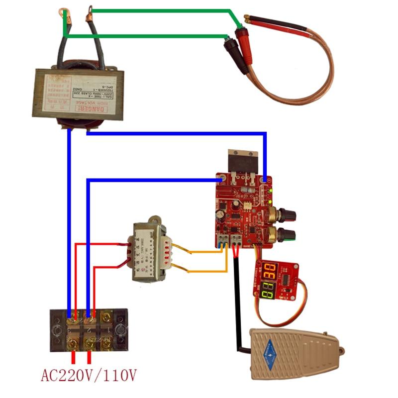 100A Spot Welding Machine Time Current Controller Control Panel Board Module