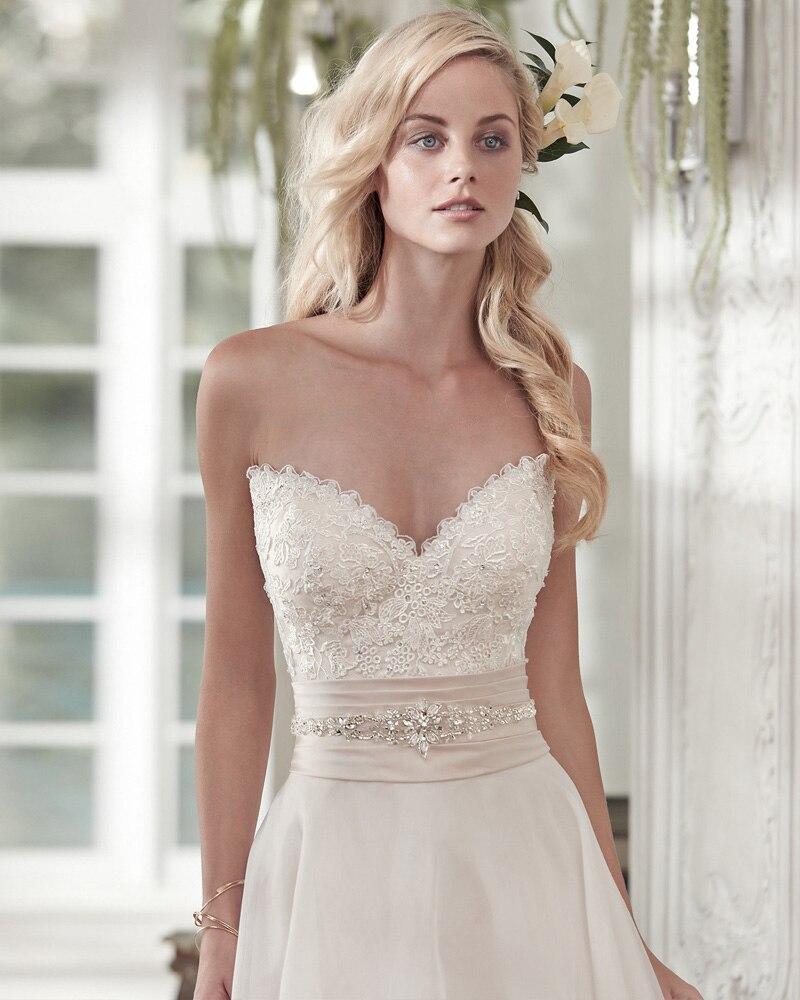 Chiffon Short Beaded Wedding Dress