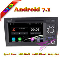 Roadlover 2G+16GB Quad Core Android 7.1 Car DVD Player For Audi A4 (2002 2008) Stereo GPS Navigation Media Center Video Magnitol