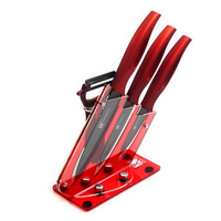 Most Popular XYJ Brand Ceramic Knife Holder Top Quality Peeler 3 4 5 Kitchen Knife ABS