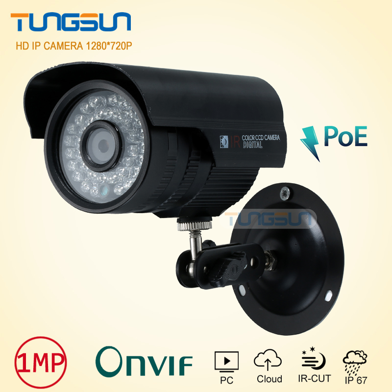 New 720P 48v poe IP Camera  CCTV 36leds infrared Bullet Metal Waterproof Outdoor Security Network Onvif P2P Surveillance Camera cctv camera housing metal cover case new ip66 outdoor use casing waterproof bullet for ip camera hot sale white color wistino