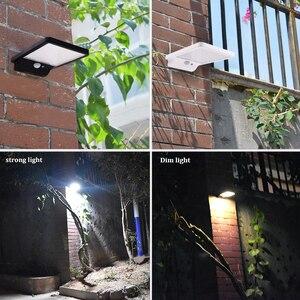 Image 5 - 500 lumen Outdoor Led Solar Licht 42 Leds Außen Motion Sensor Solar Lampe Wasserdichte Sicherheit Lichter Für Garten Wand Hof