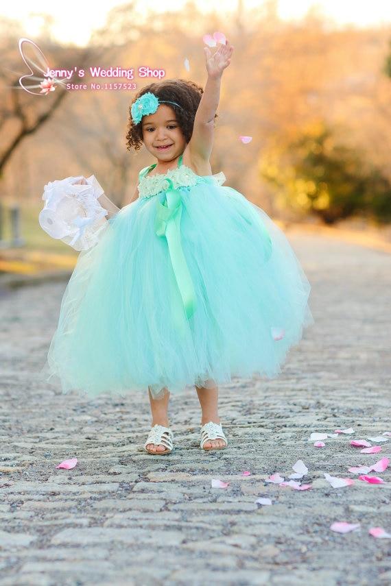 Colorful Tulle Flower Girl Dress For Wedding Kids Princess Dress ...