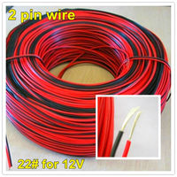 FREE SHIPPING 2pin Led Extension Cable Wire Red Black 12V 24V Led Strip 3528 5050 5630