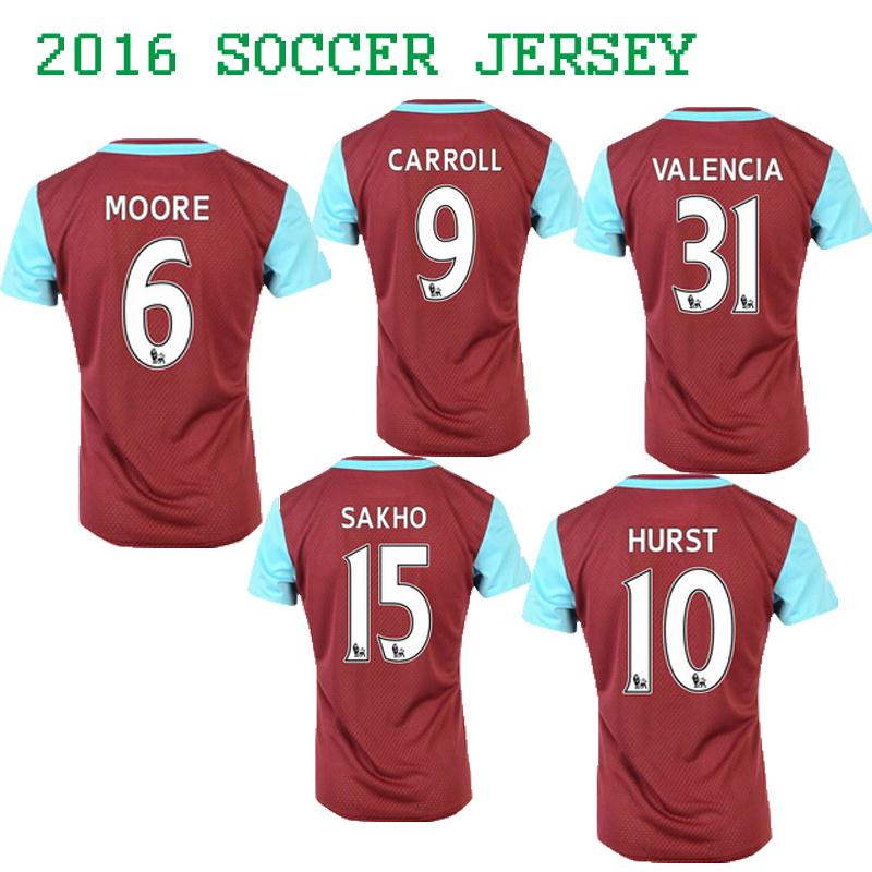 the best attitude a7604 97adf 2016 New arrive West Ham Home Jersey Soccer Jersey 2016 West ...