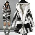Detalhes sobre o Mais Recente Moda Das Mulheres Zebra Engrossar Inverno Quente Casaco Senhora Casaco De Peles Outwear
