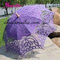 Princess Vintage Battenberg Lace Parasol Bridal Umbrella  In Purple Handmade For Wedding Free Shipping High Quality New Arrival