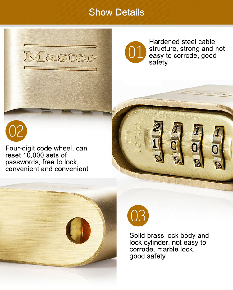 MASTER LOCK Tamper-proof Anti-corrosion Anti-rusting Waterproof BrPassword Combination Code Lock Padlock Anti-theft (1)