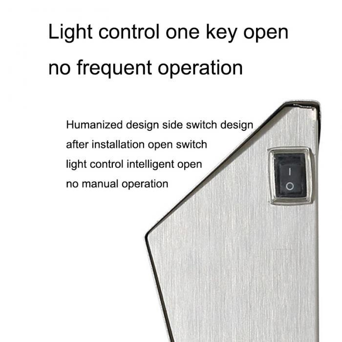 Energia solar luz 3 leds iluminação doorplate