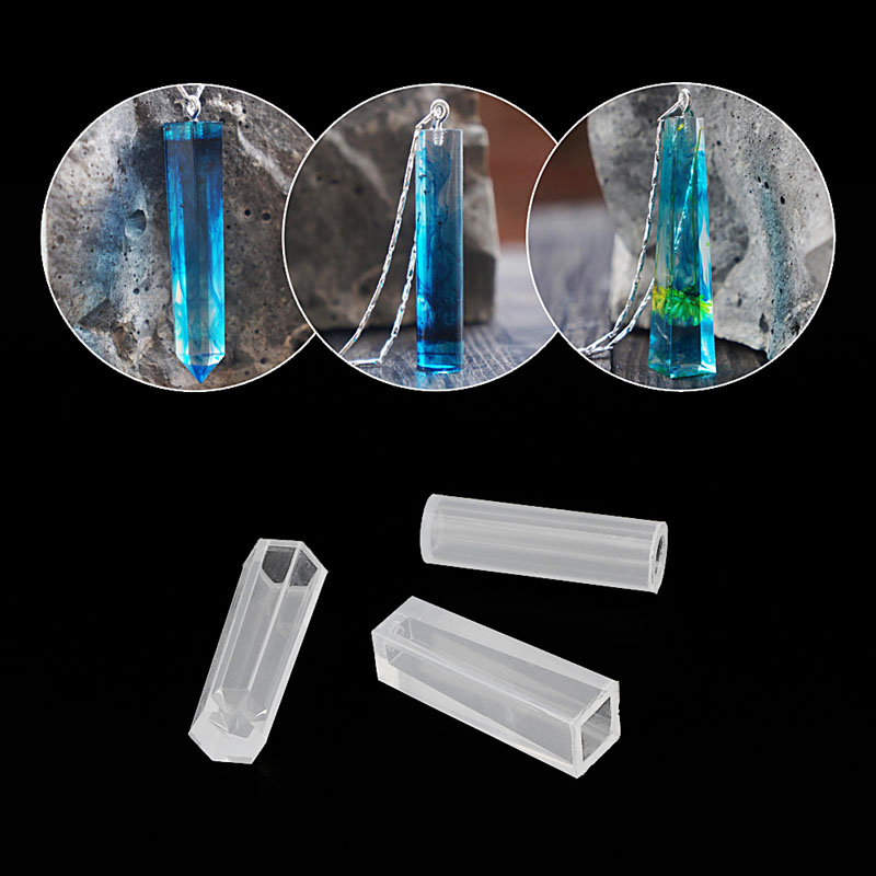 Crystal Geometric Jewelry Making Tools Mold Pendant Silicone Resin Crafts