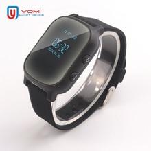 Akıllı saat çocuklar yaşlı için T58 Smartwatch SIM GPS akıllı takip cihazı uzaktan bulucu cihazı için bebek yaşlı akıllı saat IOS Android için