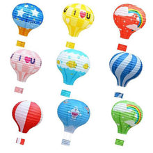 22 colors 12/16 inch hot air balloon printing paper lanterns wedding decoration festival bar decoration crafts DIY pendant party(China)