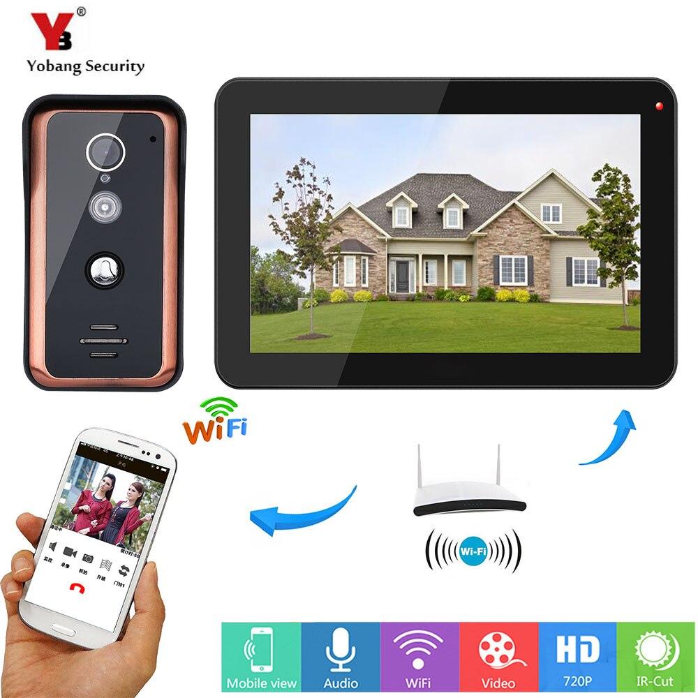 YobangSecurity APP Télécommande Vidéo Interphone 9 pouce Moniteur Wifi Sans Fil Téléphone Visuel de Porte Sonnette Caméra Interphone Système