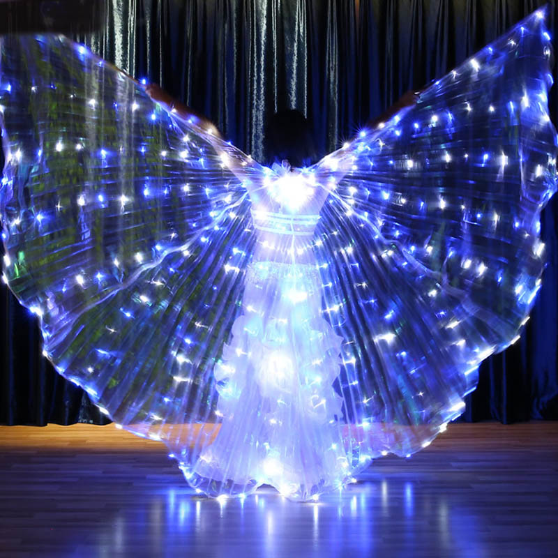2020 Hot-Selling Bellydancing LED Isis Wings Nice Oriental Dance Accessory LED Wings Sexy Stage Show Props Wings 360 degrees