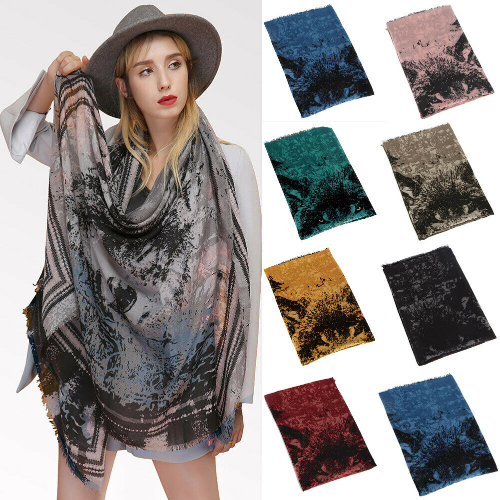 2019 Newest Fashion 100% Cotton Linen Women Soft Wolf Long   Scarf     Wrap   Shawl Beach Towel Lot