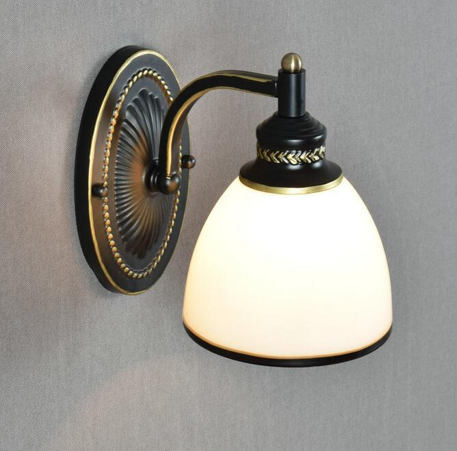 New The restaurant a single headlight of bronze mirror lamp European bedroom bedside wal ...