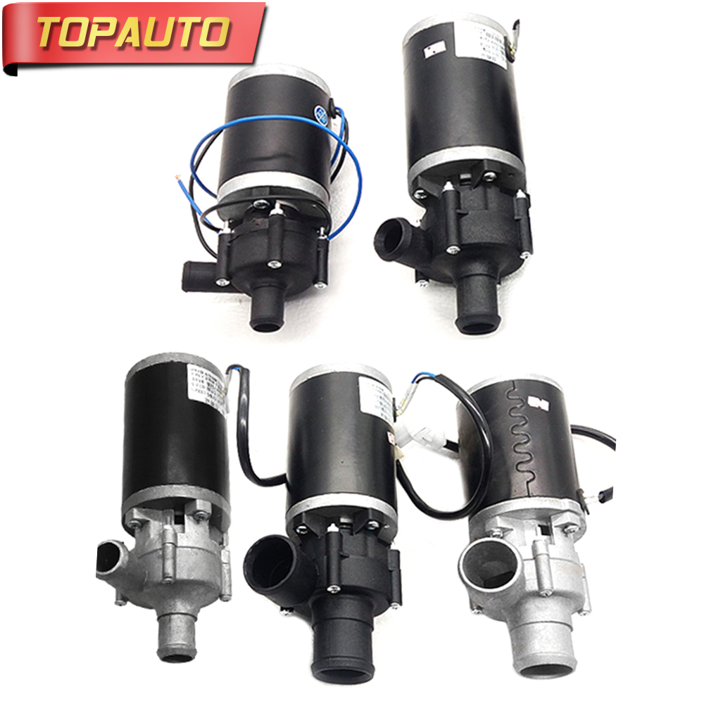 TopAuto 12V/24V 19/25/38mm Car Heater Circulating Water Pump Modified Pump Forced Circulation Brushless Motor Truck Accessories 12v 24v 160w 38mm accelerate water circulation auto electric a c heater water pump strengthen a c heating for car truck