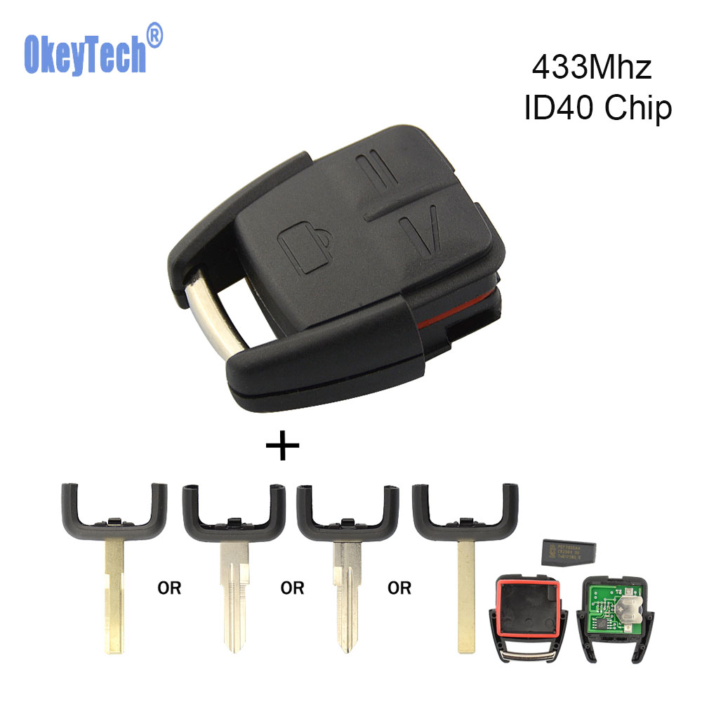 OkeyTech for Opel Astra H J G Vectra Zafira Corsa D Omega Remote Control Key 433Mhz ID40 Chip Uncut HU100 HU43 YM28 HU46 Blade-in Car Key from Automobiles & Motorcycles